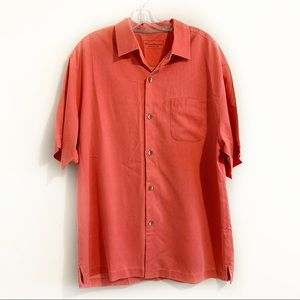 Tommy Bahama Coral Silk Short Sleeve Button Up